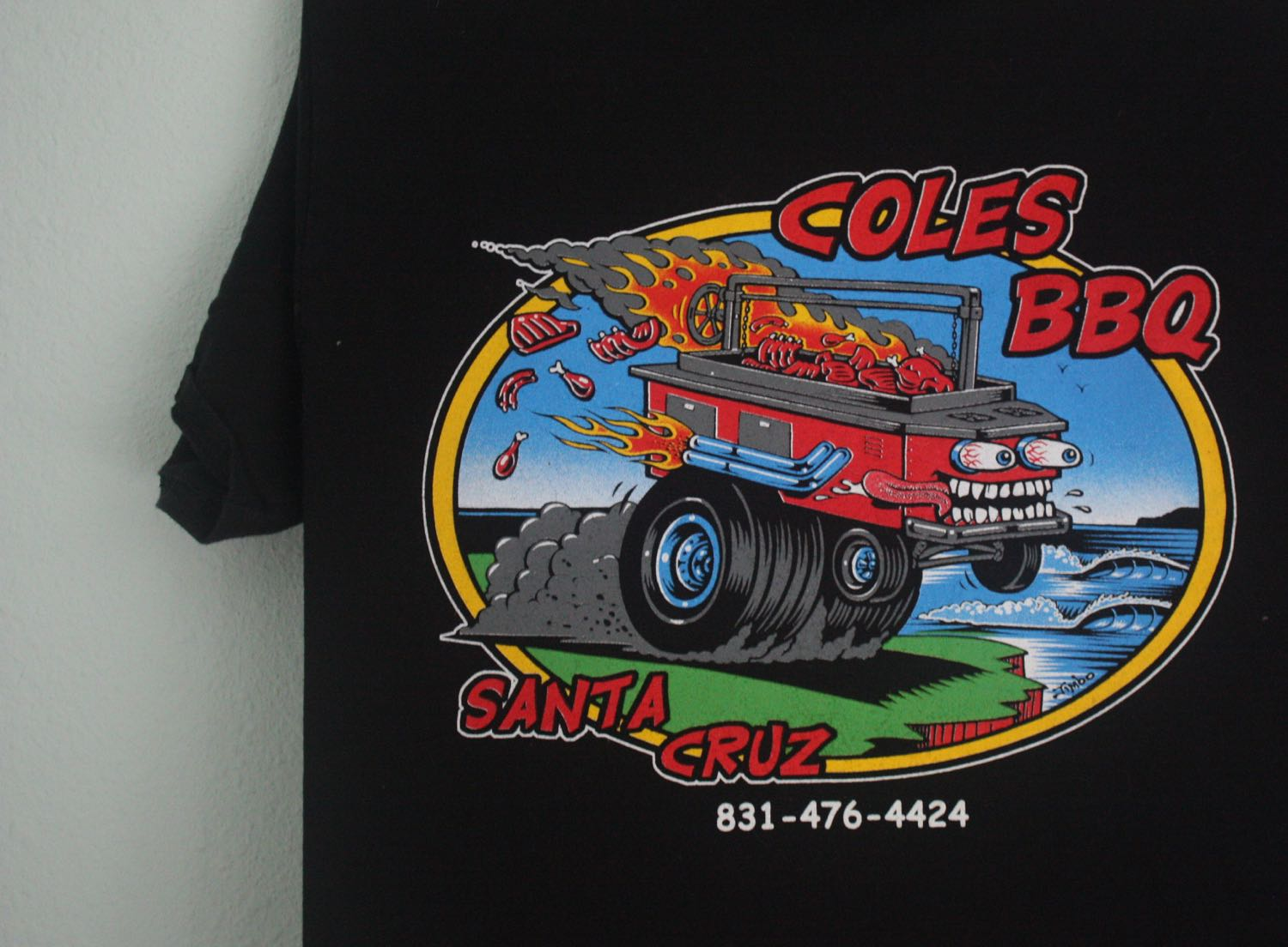 Santa Cruz Coles BBQ Roth Style Tee by Jimbo Phillips