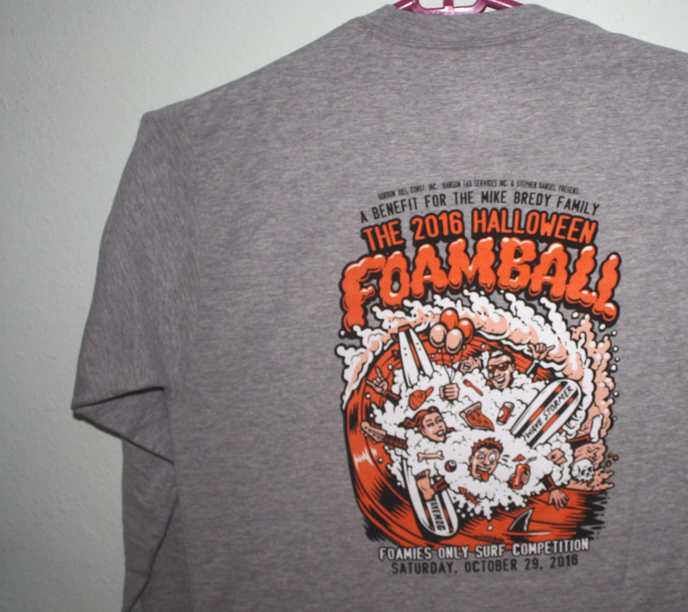 Santa Cruz Foam Ball Benefit Surf Contest Tee