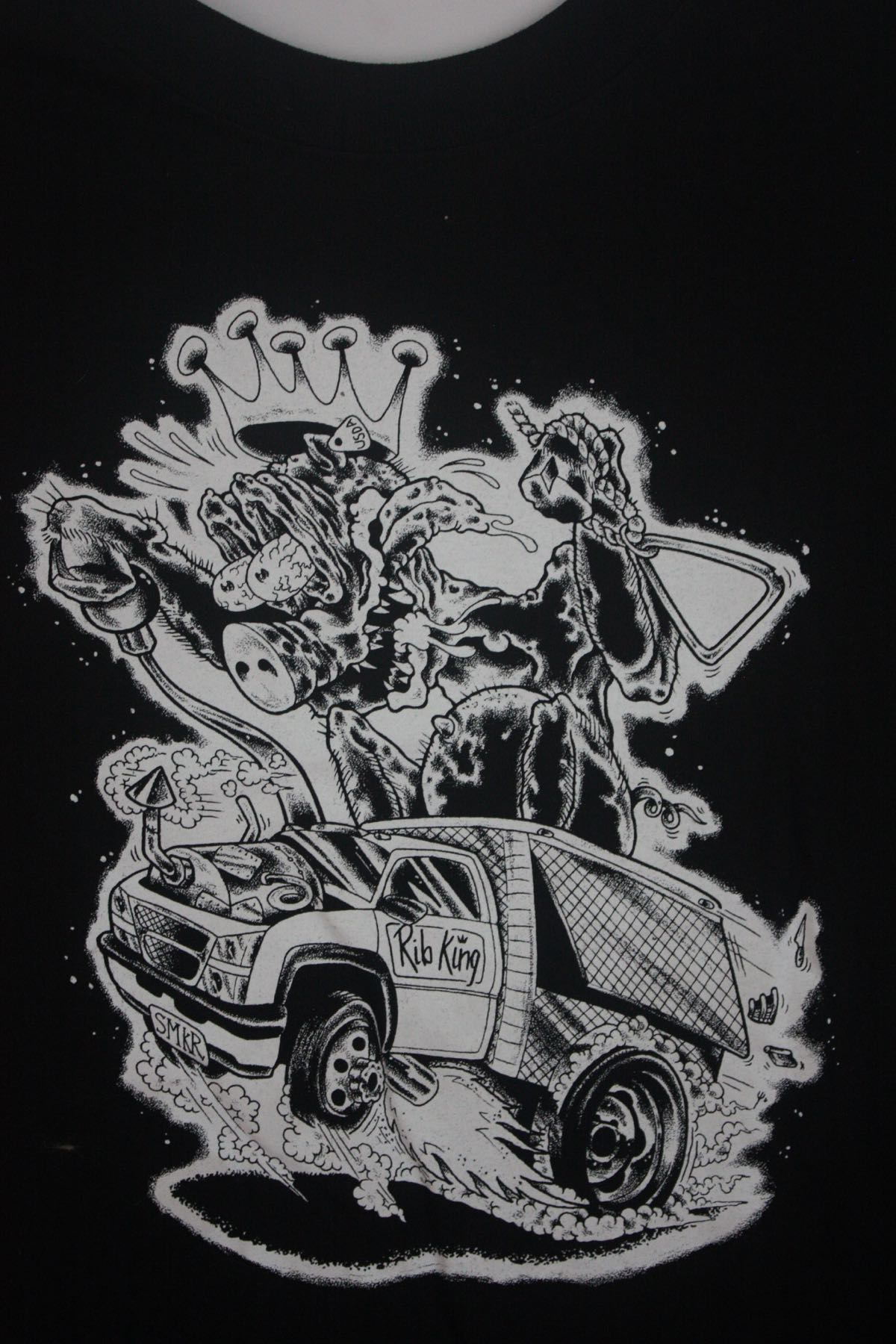 Santa Cruz Rib King Barbecue Food Truck Tee 1