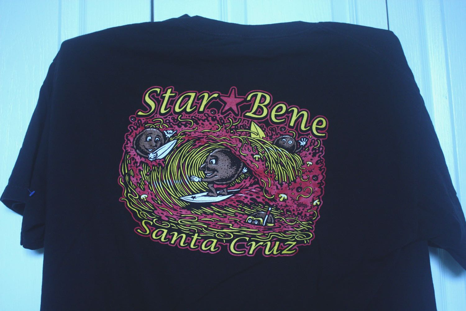 Santa Cruz Star Bene Restaurant Tee by Jimbo Phillips