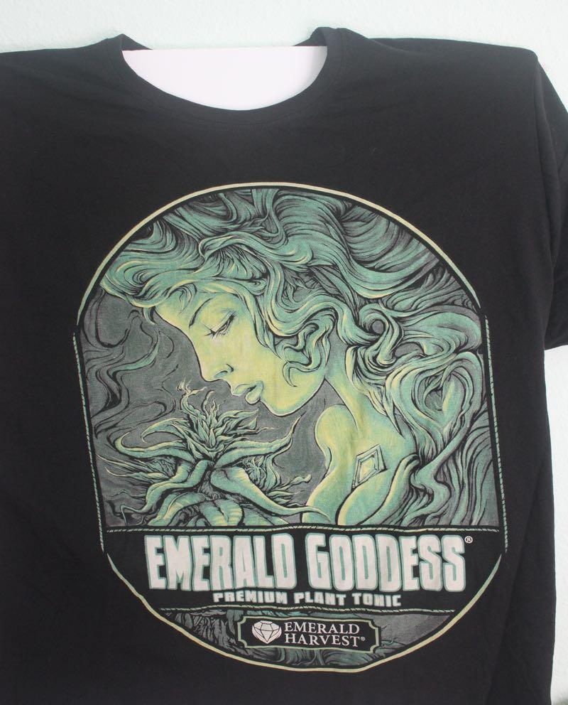 Emerald Goddess Marijuana Hydroponics Tee