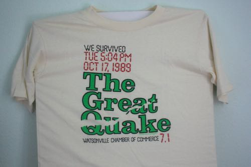 Santa Cruz 89 Quake Watsonville Chamber of Commerce Tee