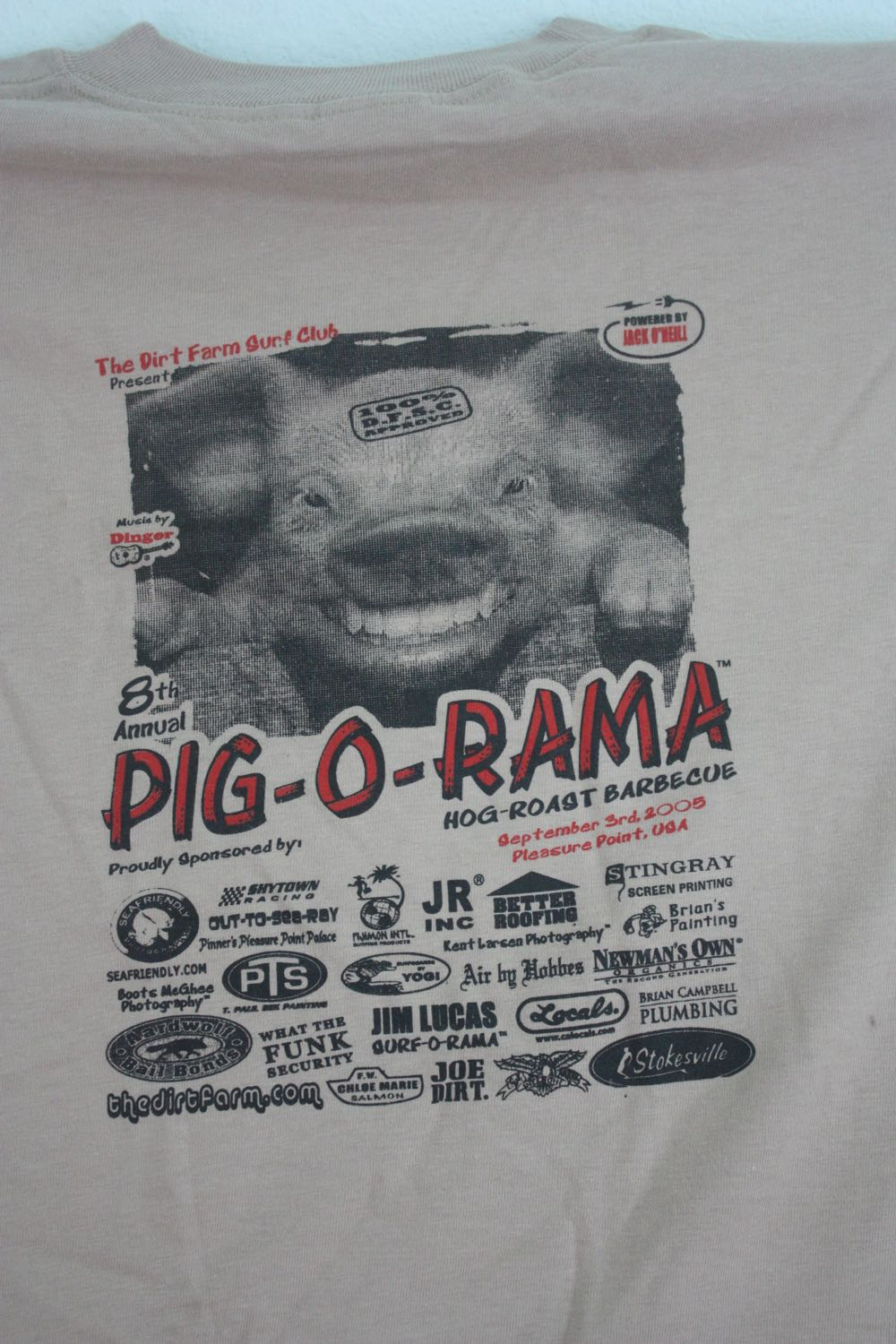 Dirt Farm Pig o Rama Tee 1