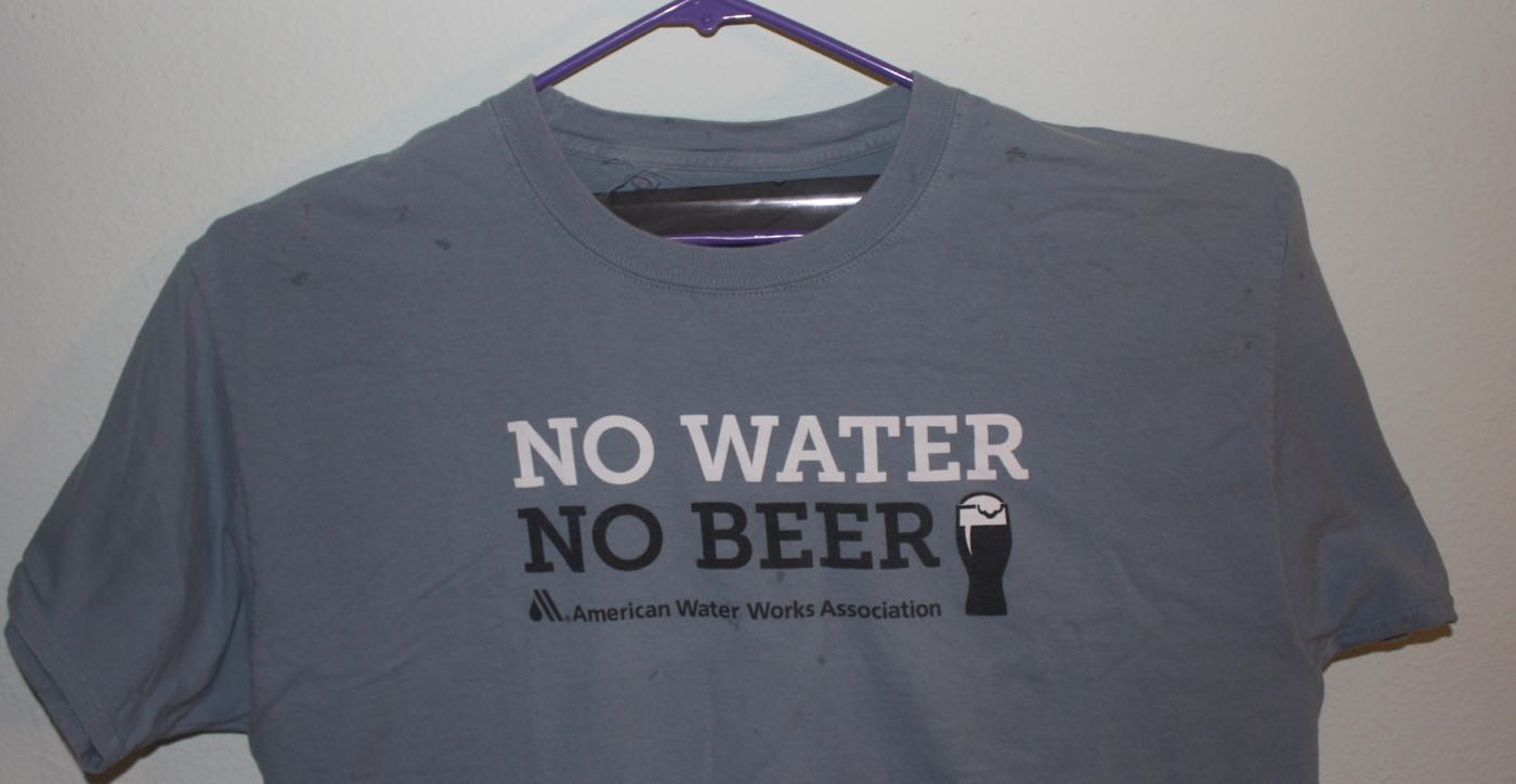 No Water No Beer Waterworks Tee