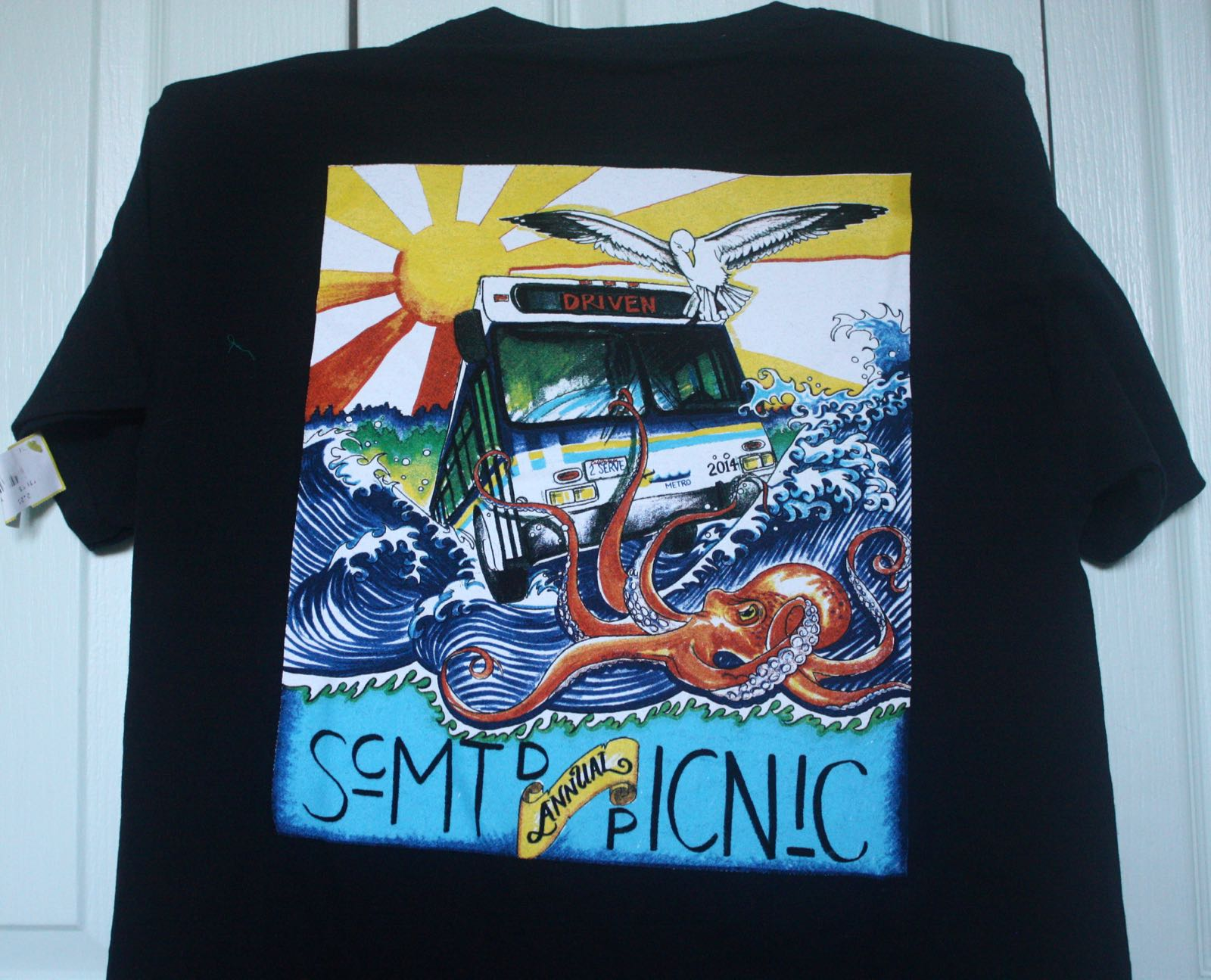 Santa Cruz Metro Surfing Bus Company Picnic Tee