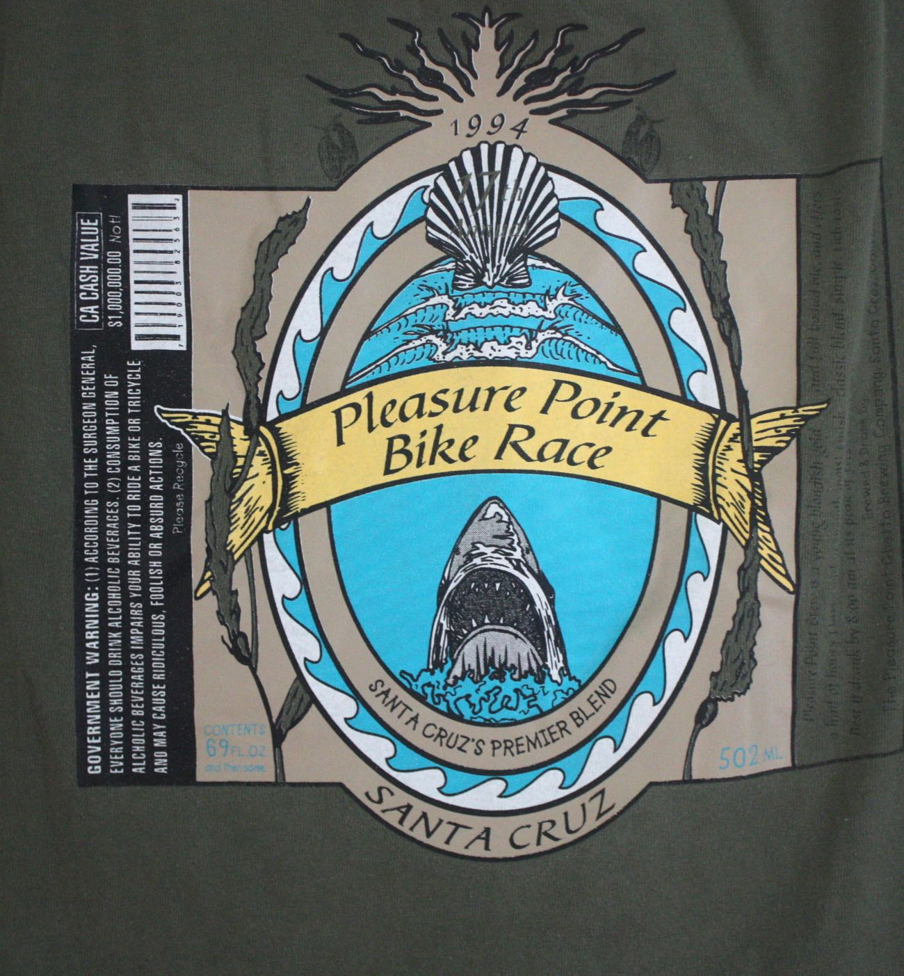 Santa Cruz Pleasure Point Bike Race 1994 Tee 3