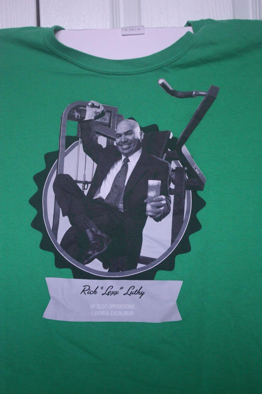 Lex Luthy Supervillan Lookalike Casino Boss Tee