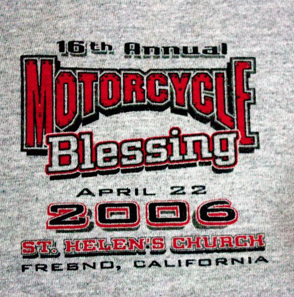 Blessing of the Bikes Fresno 2006 Tee 2