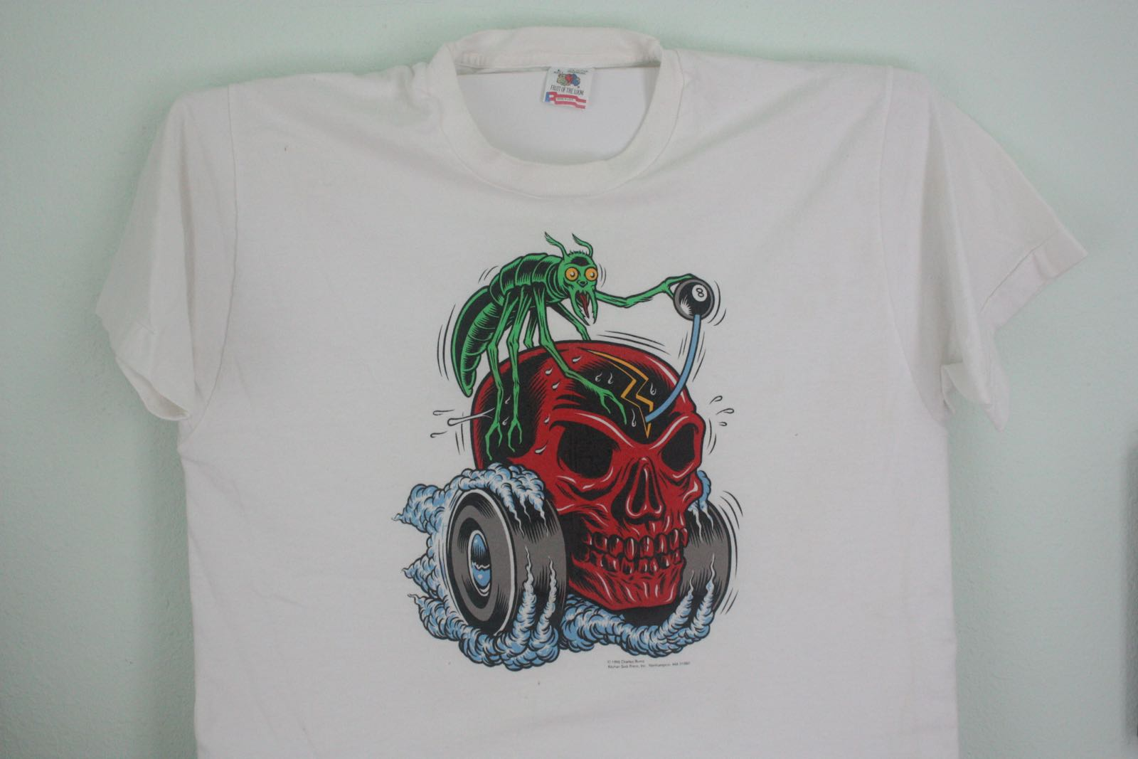 Ed Roth Inspired Red Skull Hot Rod Tee