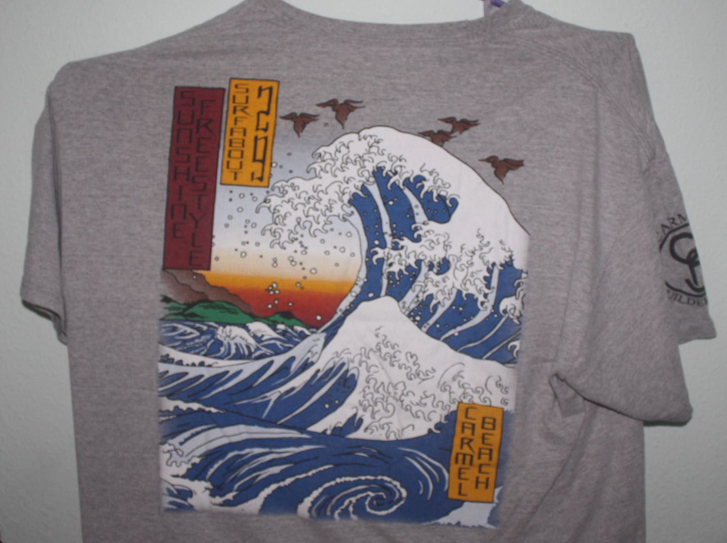 Hokusai Waves Carmel Surf Contest Tee
