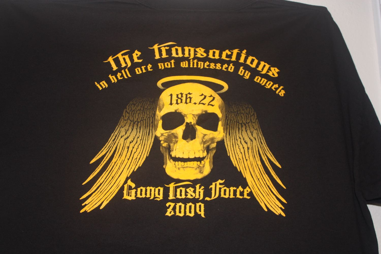 Unnamed CA Gang Task Force 2009 Tee 1
