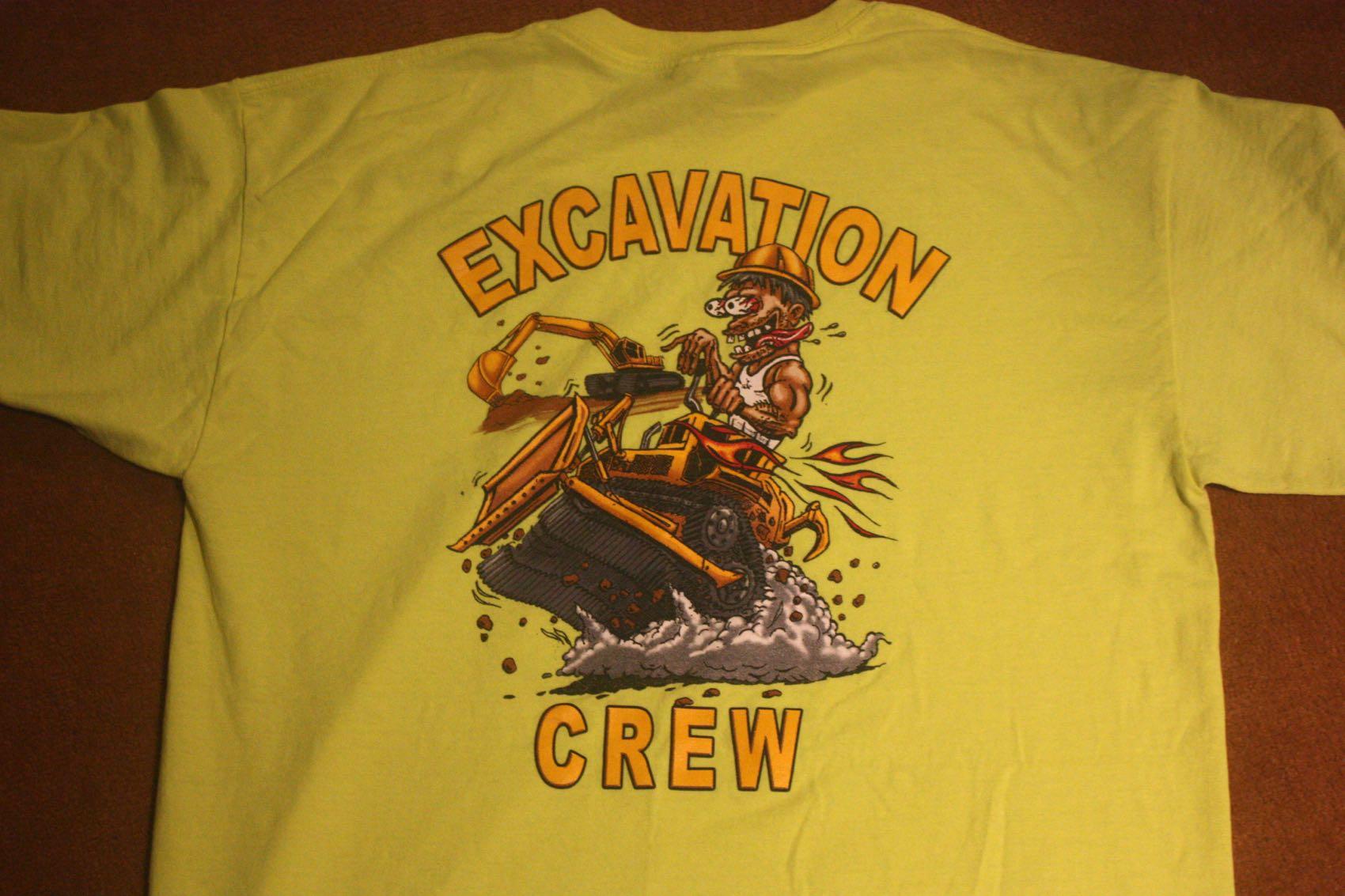 Excavation Crew Ed Roth Style Tee