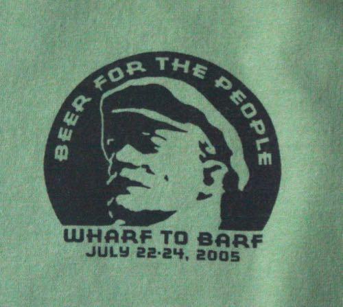 Santa Cruz Hash House Harriers Wharf to Barf Tee 2