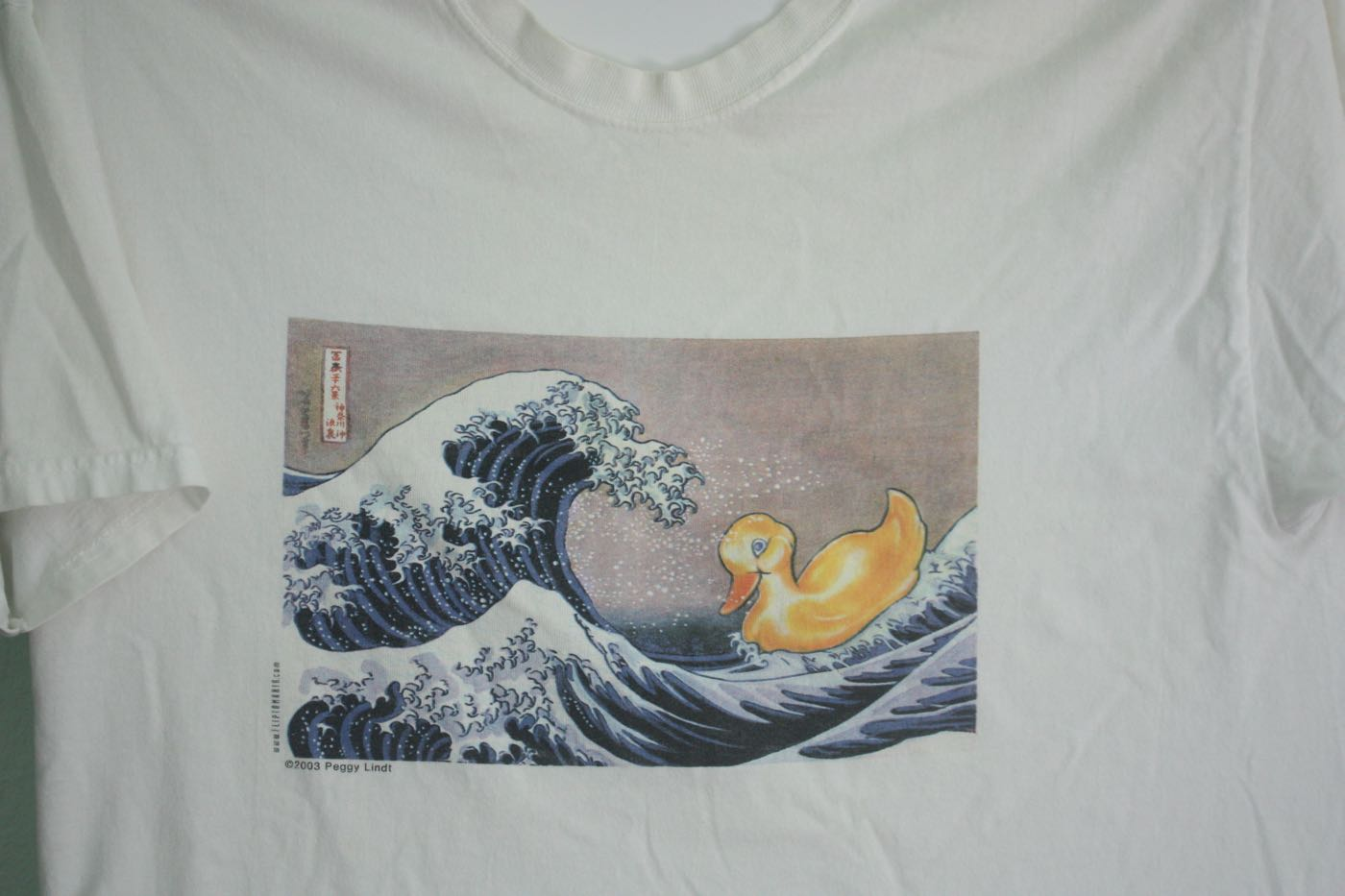 The Great Wave off Kanagawa  by Hokusai with Rubber Ducky Tee