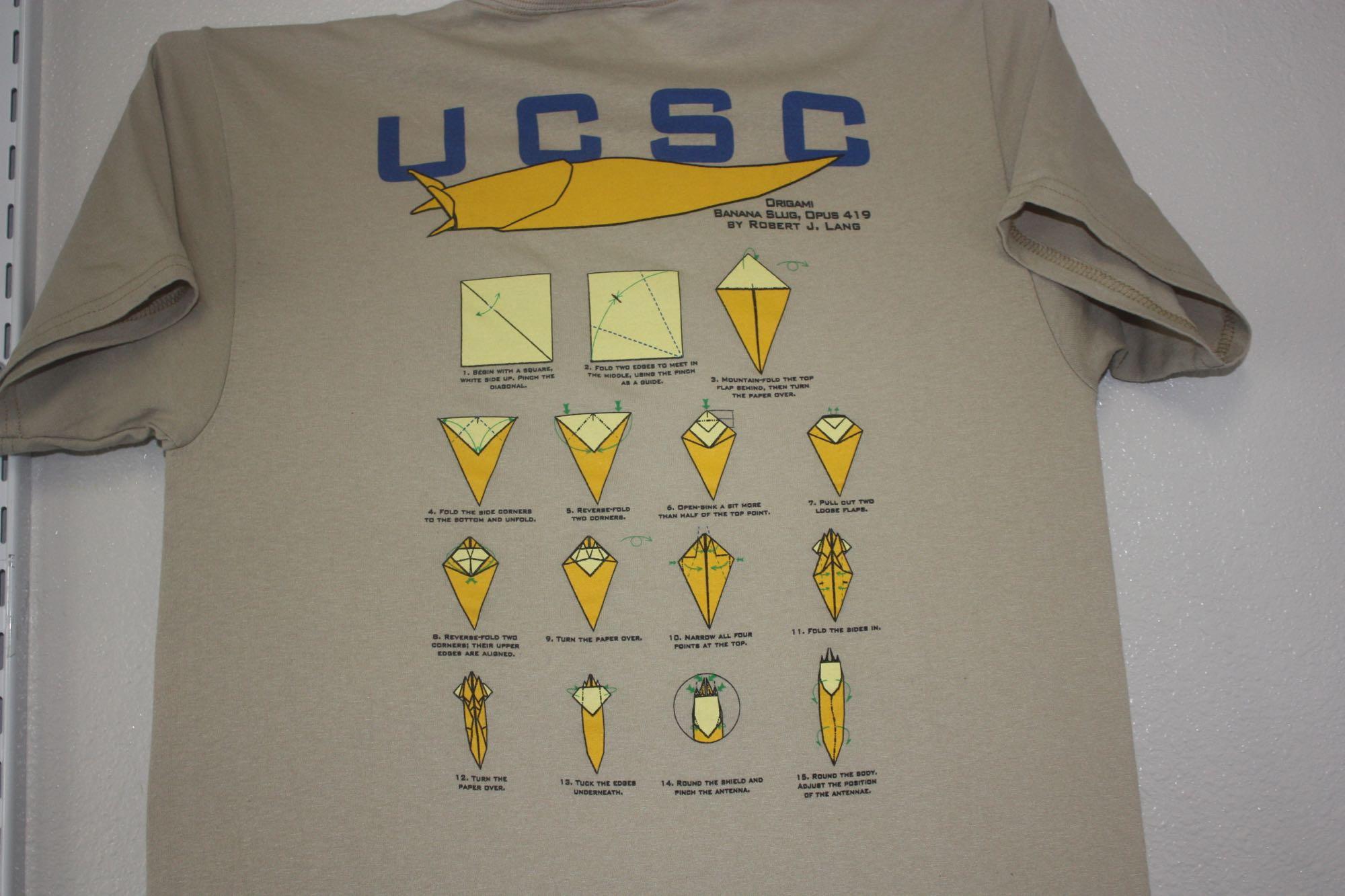 UCSC Origama Banana Slug Tee 1
