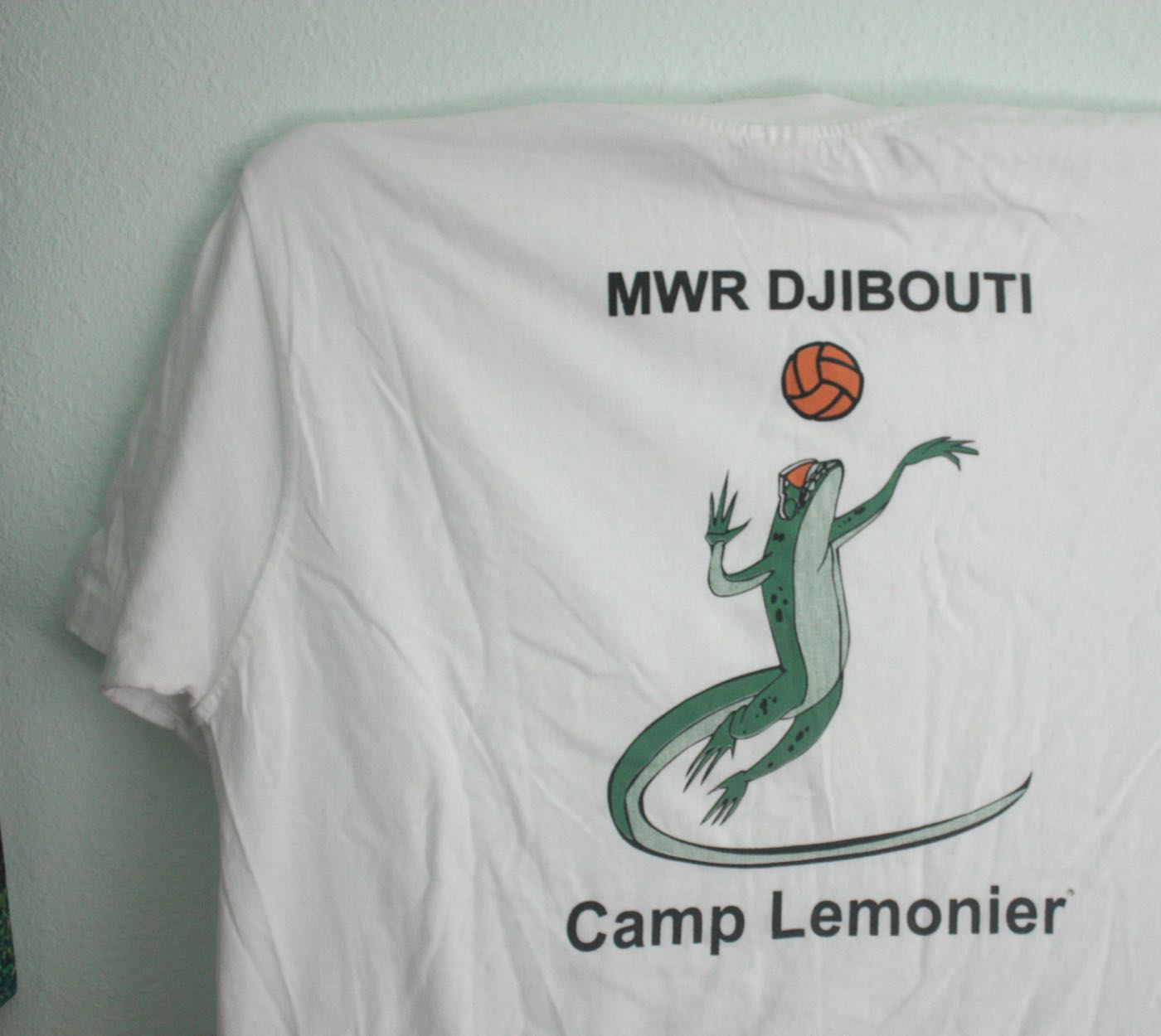 Camp Lemonier MWR Lizard Volleyball Tee 1