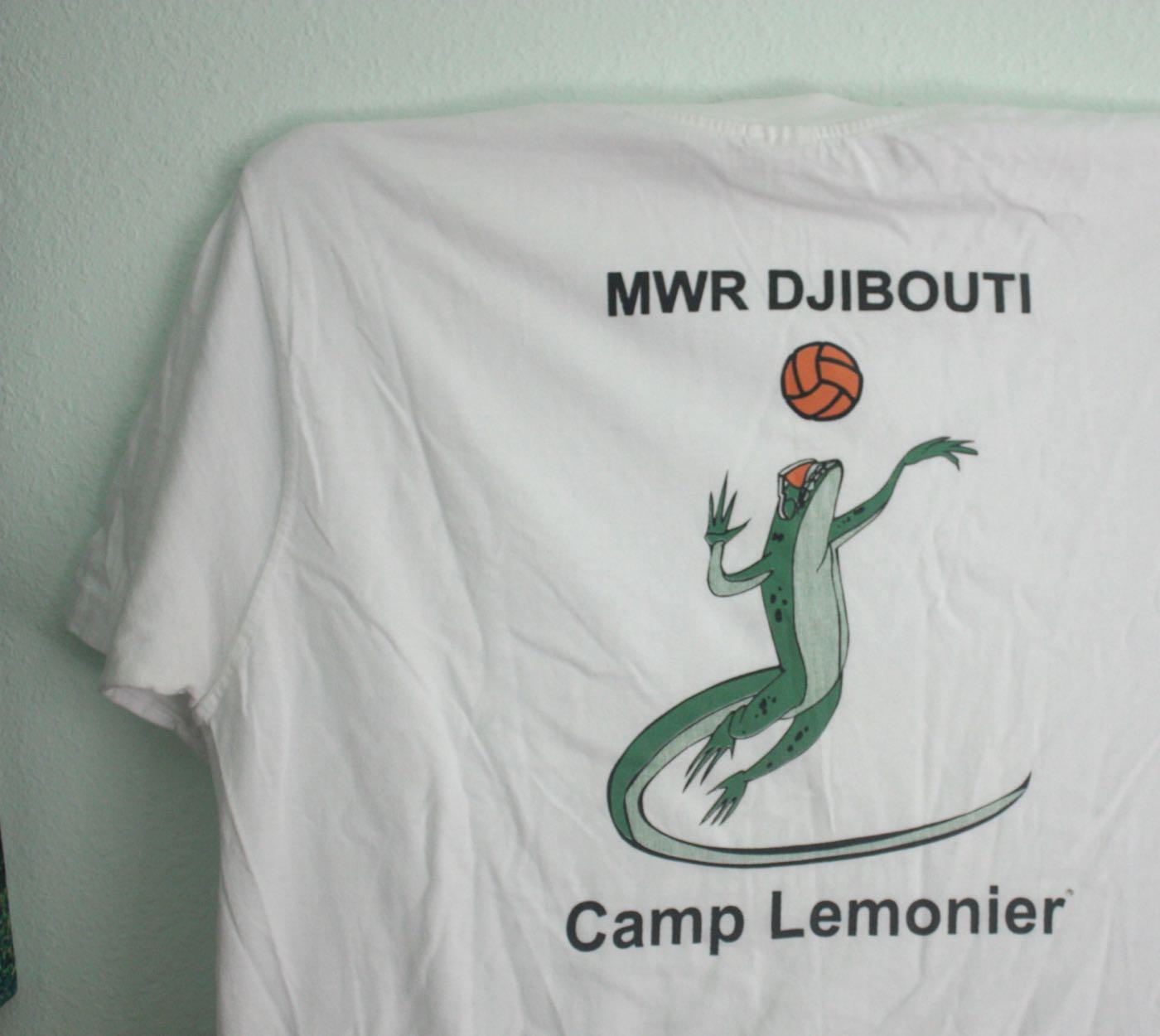 Camp Lemonier MWR Lizard Volleyball Tee 1