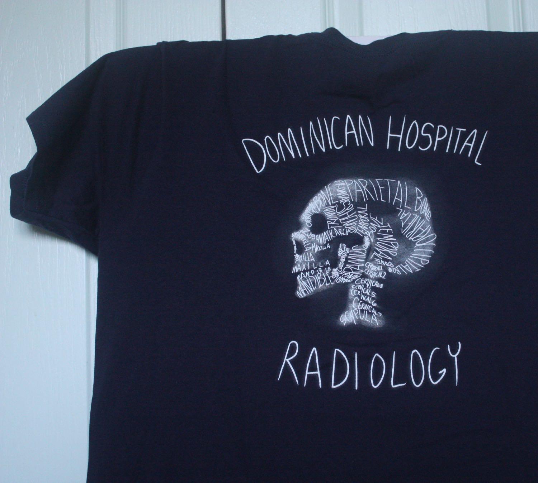 Dominica Radiology Skull Made of Bone Names Tee